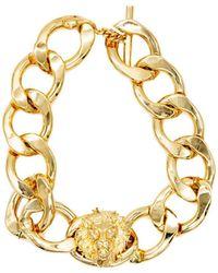 Versus - Gold Metal Bracelet - Lyst