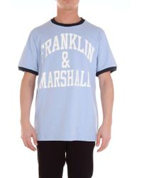 Franklin & Marshall Light Blue Cotton T-shirt