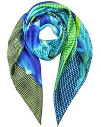 Marina D'este - Blue Silk Foulard - Lyst