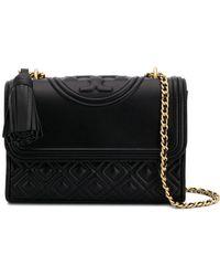 0e0015af400 Tory Burch Chain Strap Shoulder Bag in Black - Lyst