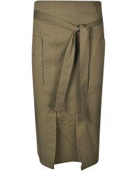 Blugirl Blumarine - Green Cotton Skirt - Lyst
