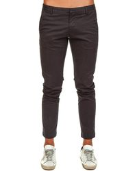 AT.P.CO - Black Cotton Trousers - Lyst