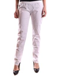Twin Set White Cotton Trousers