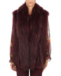 Rizal - Burgundy Viscose Coat - Lyst