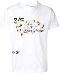 6c677c28 Off-White c/o Virgil Abloh 7 Opere Cotton T-Shirt in White for Men ...