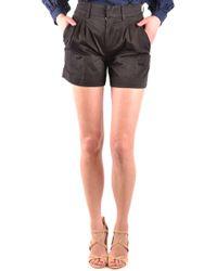 Dondup - Black Cotton Shorts - Lyst