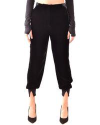 Twin Set Black Viscose Trousers