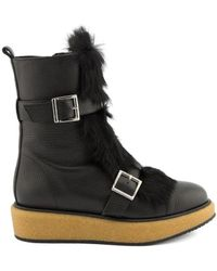 Paloma Barceló - Black Leather Ankle Boots - Lyst
