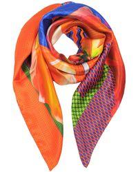 Marina D'este - Orange Silk Foulard - Lyst