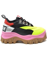 MSGM Multicolour Leather Trainers