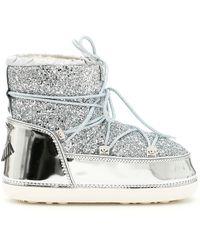 Chiara Ferragni Silver Polyester Ankle Boots - Metallic