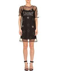 Trussardi - Black Polyester Dress - Lyst