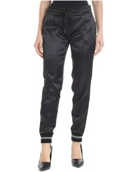 Iceberg - Black Polyester Trousers - Lyst