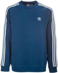 415cc252 adidas Originals Blue Floral Sweatshirt in Blue - Lyst