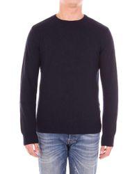 Andrea Fenzi - Blue Wool Sweater - Lyst