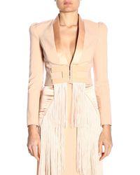 Elisabetta Franchi - Pink Viscose Jacket - Lyst