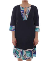Elena Miro - Blue Polyester Dress - Lyst