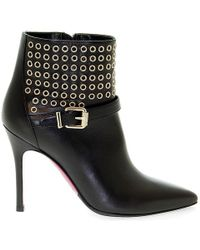 Luciano Padovan - Black Leather Ankle Boots - Lyst