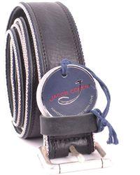 Jacob Cohen Blue Leather Belt