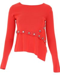 Pinko - Red Viscose Jumper - Lyst