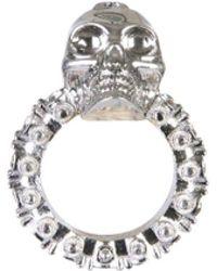 02c5557e7256d Alexander McQueen Eye Silver-coated Ring in Metallic - Lyst