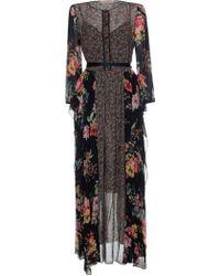 Twin Set - Black Viscose Dress - Lyst
