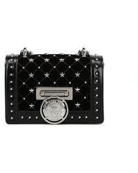 Balmain - Black Leather Shoulder Bag - Lyst