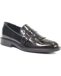 Tod's - Black Leather Loafers - Lyst