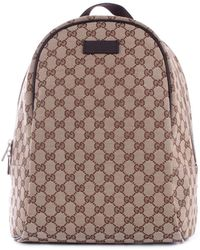 4e75ea313d6 Gucci Limited Edition Brown GG Canvas Top Zip Backpack in Brown - Lyst
