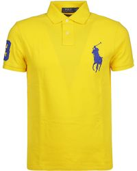 Ralph Lauren - Yellow Cotton Polo Shirt - Lyst