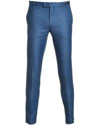 PT01 - Blue Wool Trousers - Lyst