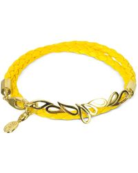 Sho London - Yellow Metal Bracelet - Lyst
