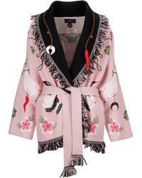 Alanui - Pink Wool Trench Coat - Lyst