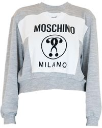 Moschino Grey Cotton Sweatshirt - Gray