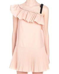 RED Valentino - Pink Cotton Dress - Lyst