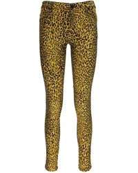 Guess Yellow Cotton Jeans