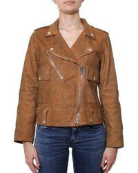 Golden Goose Deluxe Brand - Orange Leather Outerwear Jacket - Lyst