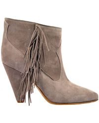 Buttero - Grey Suede Ankle Boots - Lyst