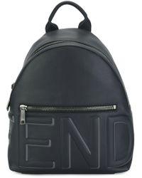 Fendi - Blue Leather Backpack - Lyst