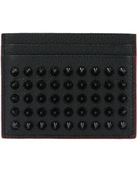 Christian Louboutin Black Leather Card Holder
