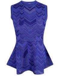 M Missoni - Purple Polyester Top - Lyst