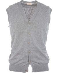 Altea - Grey Cotton Vest - Lyst
