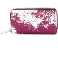 Calvin Klein - Purple Faux Leather Wallet - Lyst