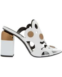 Pierre Hardy White Leather Sandals