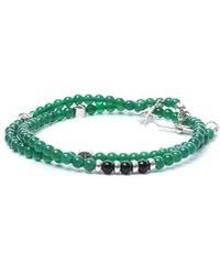 Isaia Green Silver Bracelet