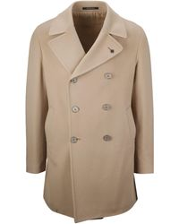 Tagliatore Beige Wool Coat - Natural