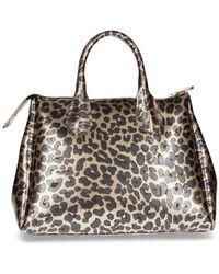 Gum - Gold Faux Leather Handbag - Lyst