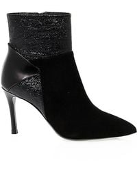 Guido Sgariglia - Black Suede Ankle Boots - Lyst