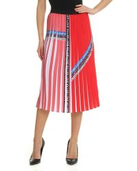Pinko - Red Polyamide Skirt - Lyst