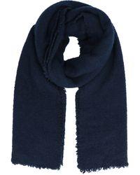 Faliero Sarti Blue Wool Scarf